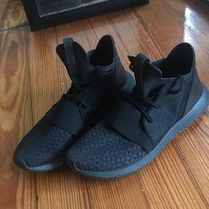 Adidas Tubular Black Athletic Shoes